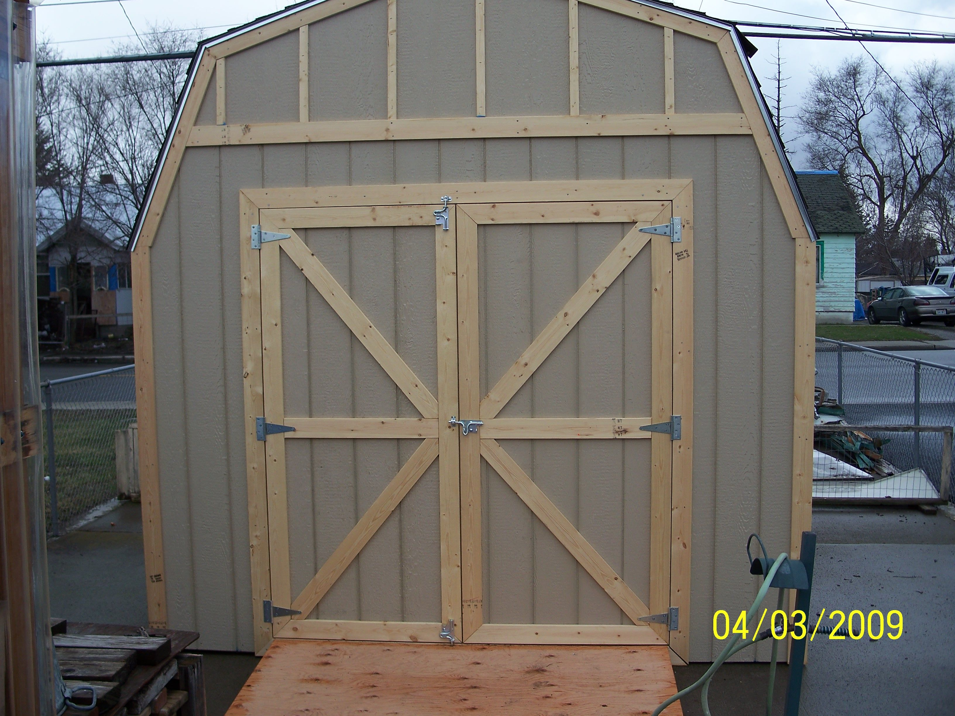 shed doors | Wood- Shed and Shed Kit Options: | Sheds | Pinterest
