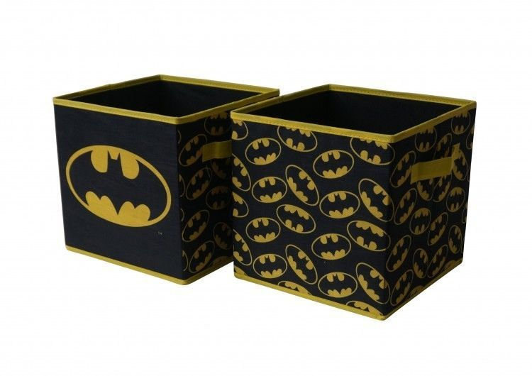 Batman Storage Cube Set Of Two 10 X 10 Collapsible Cubes Playroom Toybox Batman Cube Storage Collapsible Storage Cubes Playroom