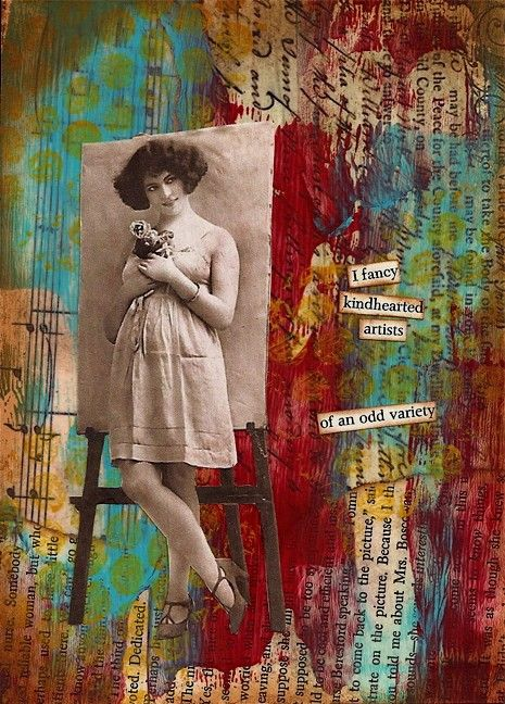 An Odd Variety - collage by Nancy Lefko