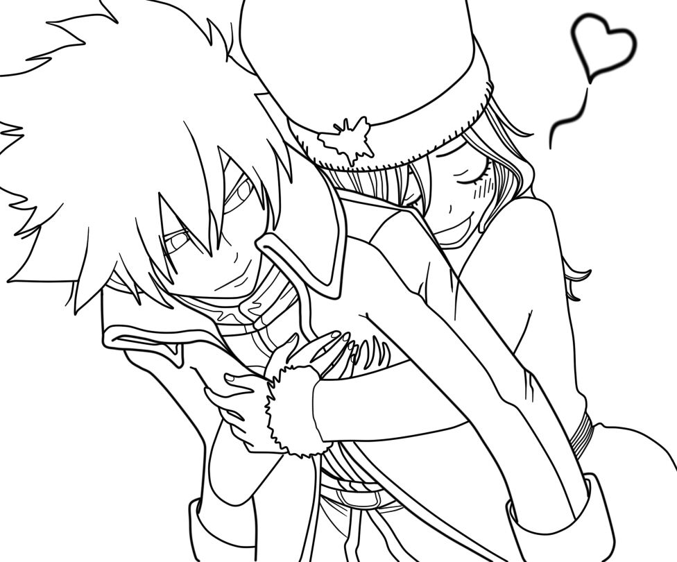 Gray x Juvia Embrace FT 269 by JuviaFT | LineArt: Fairy Tail | Pinterest