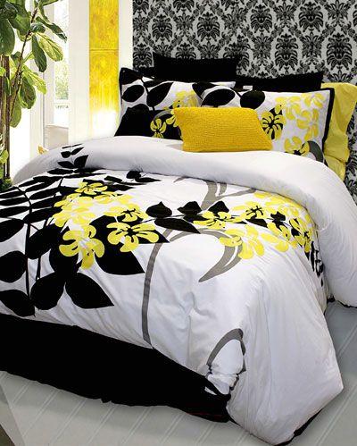 Yellow Black White Home Home Bedroom Yellow Bedroom