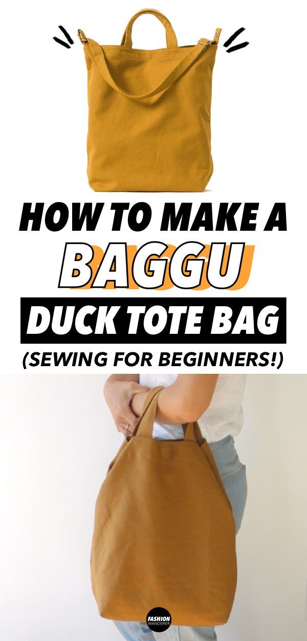 DIY Tote Bag Tutorial (Free Bag Pattern and Video #bag