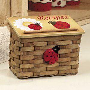 Ladybug Kitchen Decor Recipe Box Home Kitchen Kitchen