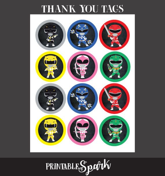 Power Rangers Toppers Power Rangers Stickers Power Ranger