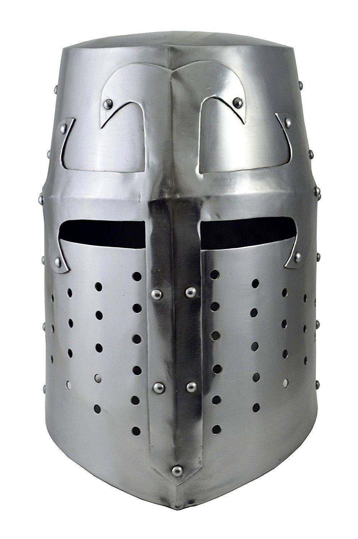 Medieval Crusader Helmet Templar Knight Helmet With Black Finish