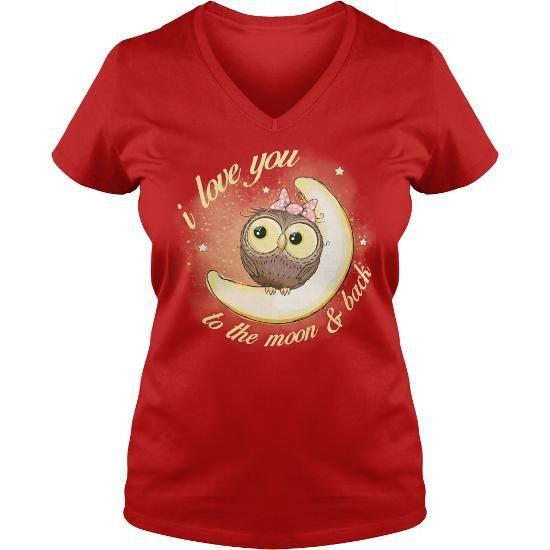 83b276cdce OWL LOVE YOU TO THE MOON BACK V-NECKS T-SHIRTS, HOODIES ...