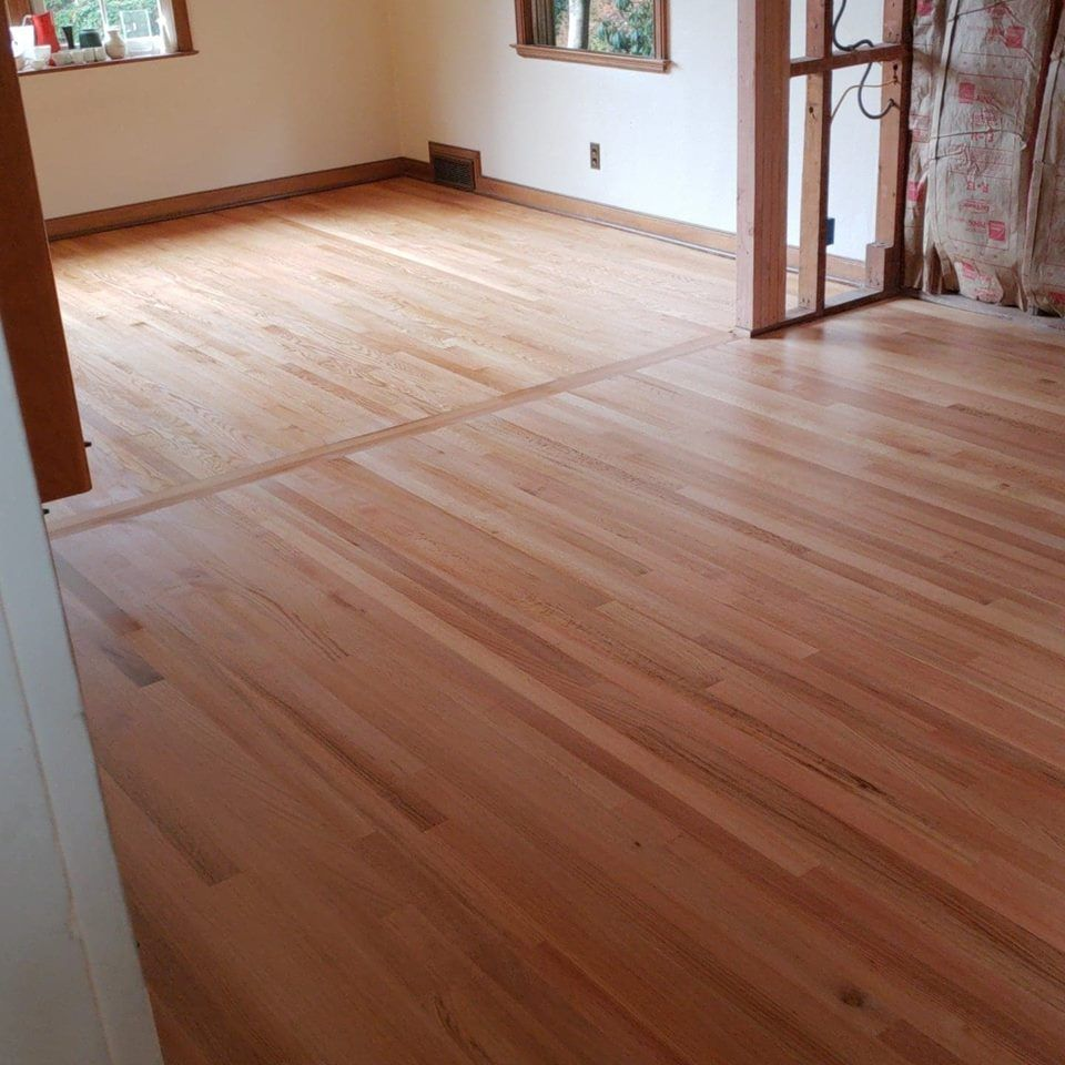 After Picture Of A Red Oak Floor With 3 Coats Of Glitsa