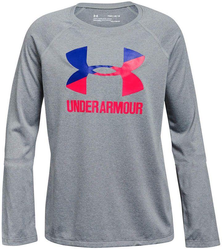 1a0d4fff Under Armour Big Girls Logo-Print T-Shirt | Under Armour stuff in ...