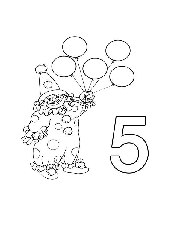 free coloring worksheets clown balloons for kindergarten ...