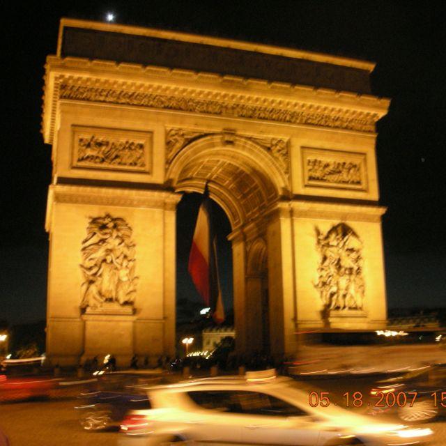 Arch De Triumph At Night Marble Arch Arch Paris