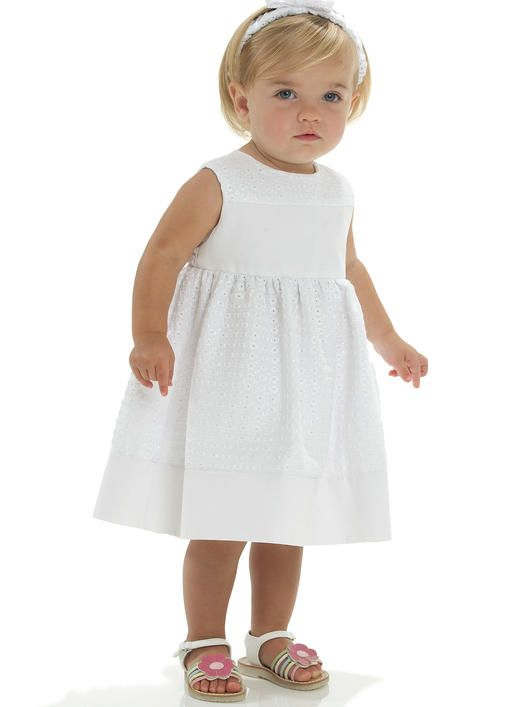 McCalls Patterns M6015 All Sizes Infants Lined Dresses Panties and Headband White Pack of 1