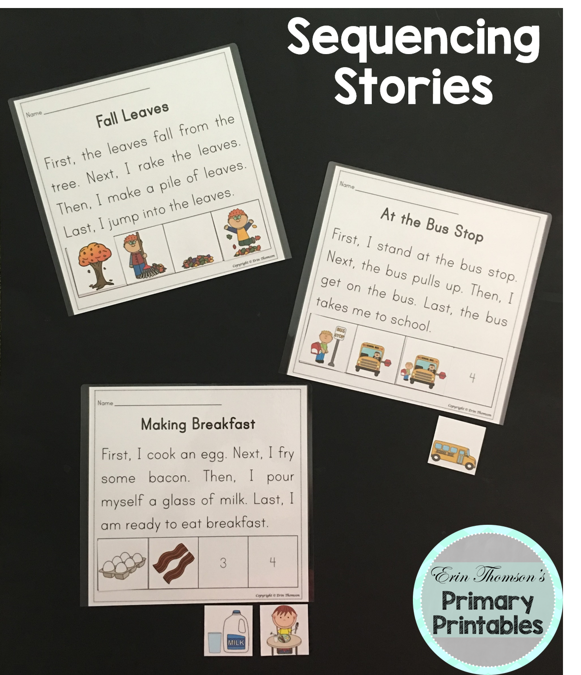 Sequencing Stories First Next Then Last Sets 1 3