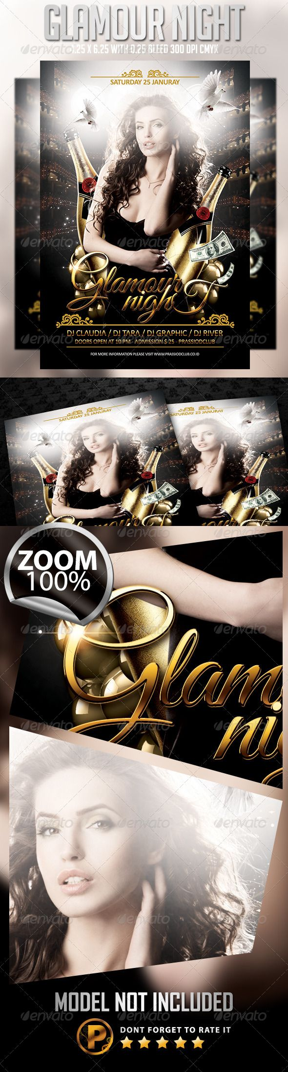 Glamour Night Flyer Template Flyer template, Flyer
