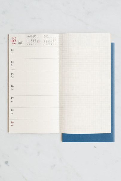Midori - 2017 Traveler's Notebook Diary Refill - Large (11x21cm ...