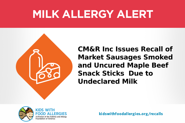 Cm Amp R Inc Recalls Beef Stick Products Due To Misbranding