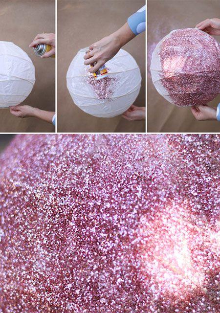 esferas de brillantina para decorar tu jardn para nios