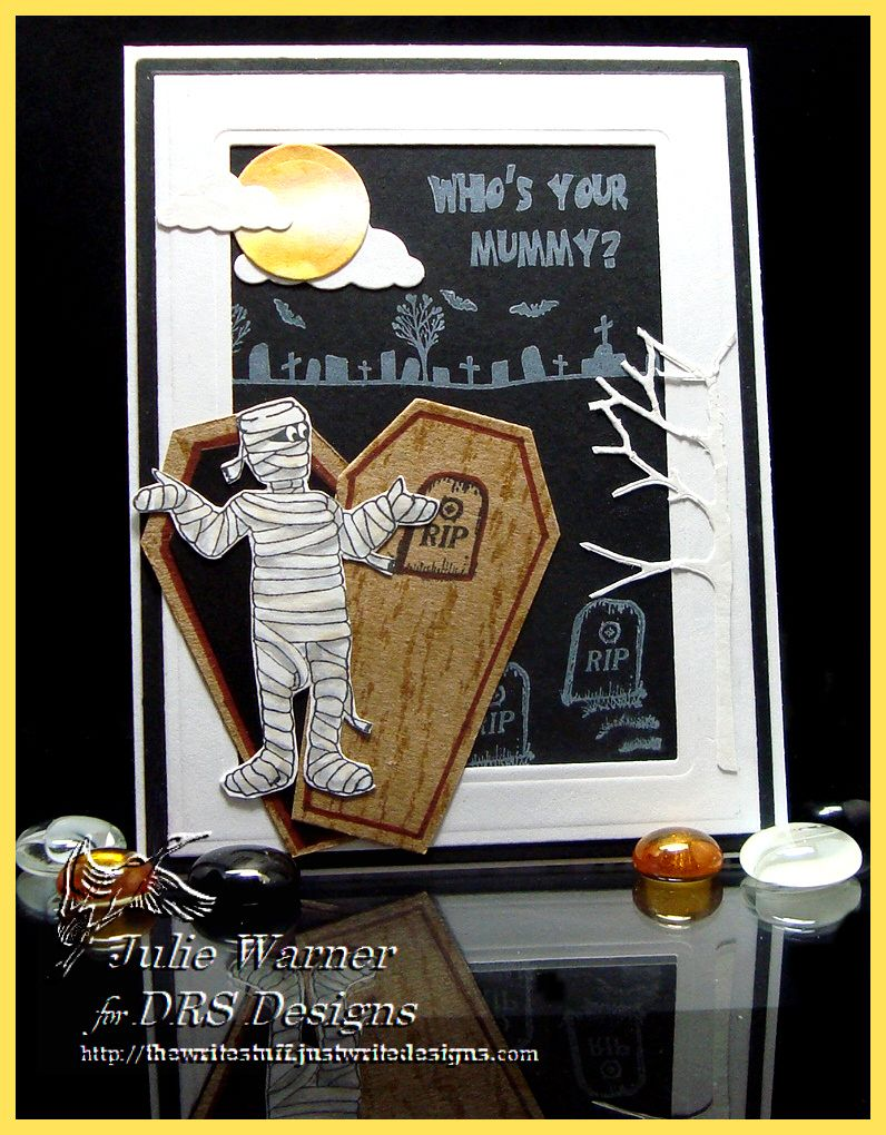 mummy in the graveyard halloween card -drs images | halloween