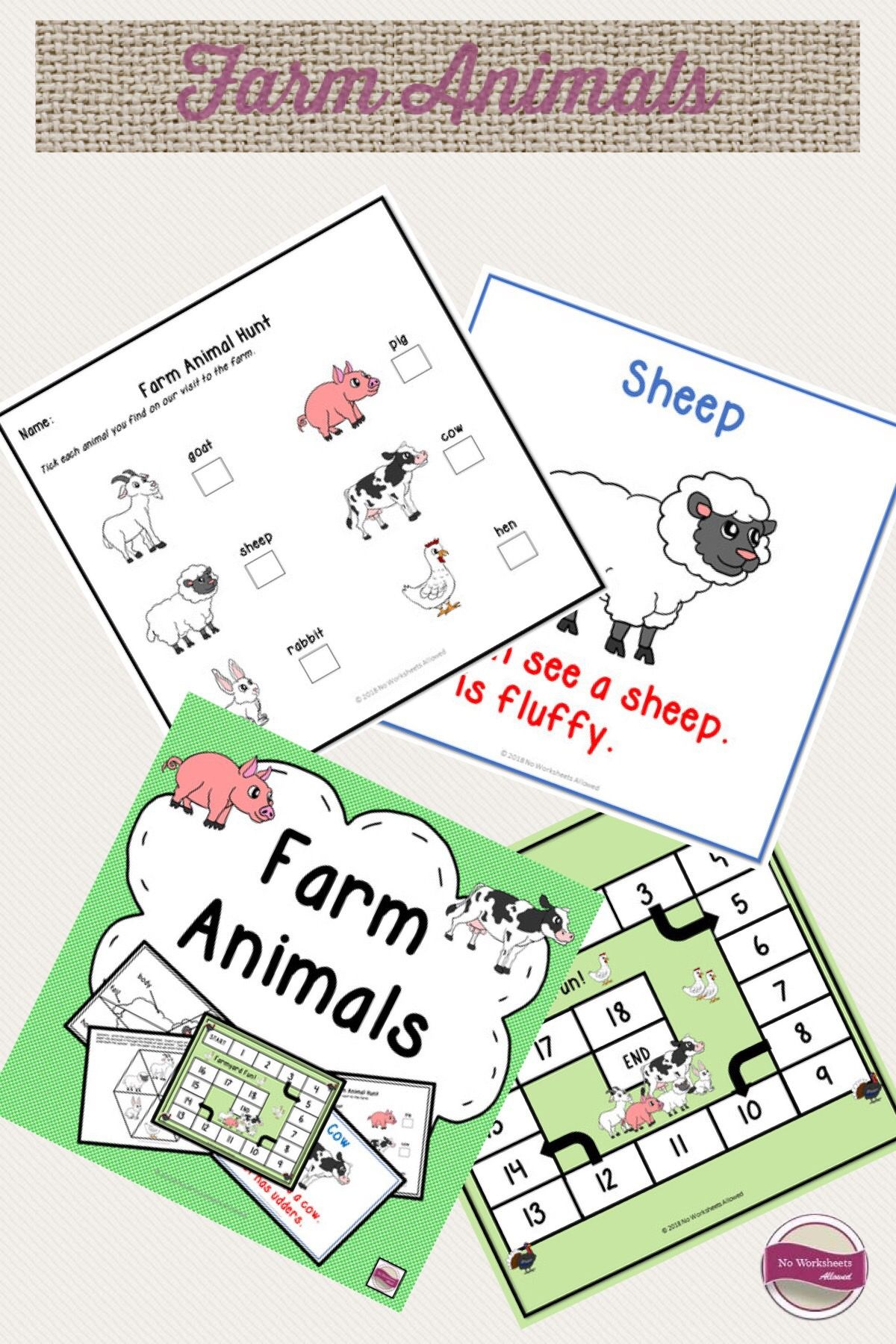 Farm Animal Activities Emergent Reader And Printables