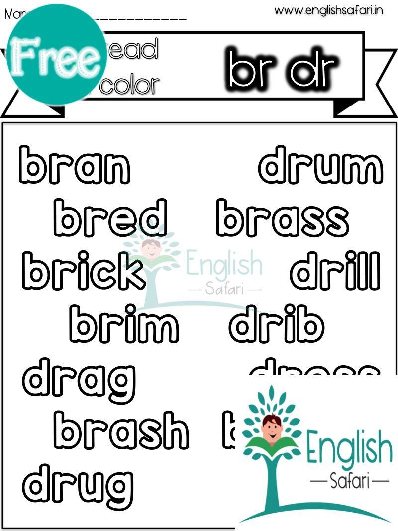 Free Br Dr Words Worksheet Www Englishsafari In Blend Words Consonant Words Writing Words [ 1067 x 800 Pixel ]