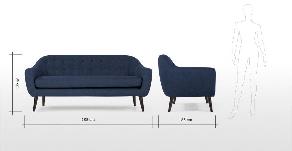 Divano Blu ~ Divano posti ritchie color blu notte made divani