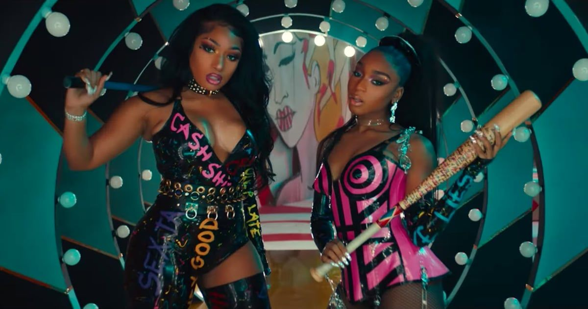 Megan Thee Stallion And Normani S Music Video For Diamonds In 2020 Music Videos Wrestling Costumes Gentlemen Prefer Blondes