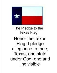 Pin By Lauren Hamlin On Preschool Homeschool Texas Quotes Texas Flag Pledge Texas Flags