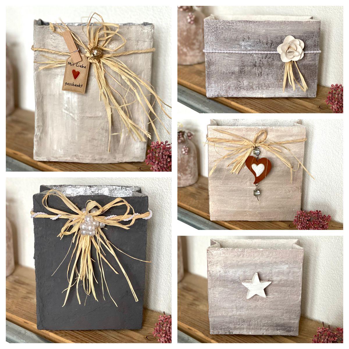Für Lichterketten, als Geschenkverpackung, zur Aufbewahrung oder einfach als Blickfang für die Wohnung 🌸 #handmadehomedecor #handmade #diyhomedecor #gips #tüten #dekoration #dekorieren #dekoideen