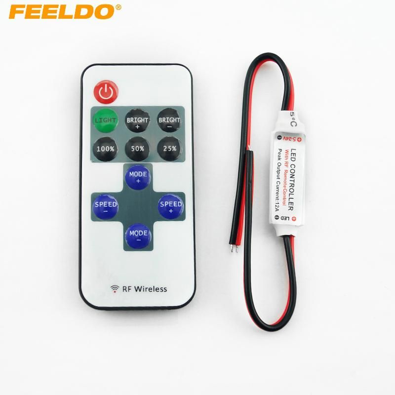 Feeldo Car Dc 5 24v Single Color Remote Controler Dimmer 11keys Mini Wireless Us 2 46 Led Strip Lighting Led Controller Strip Lighting
