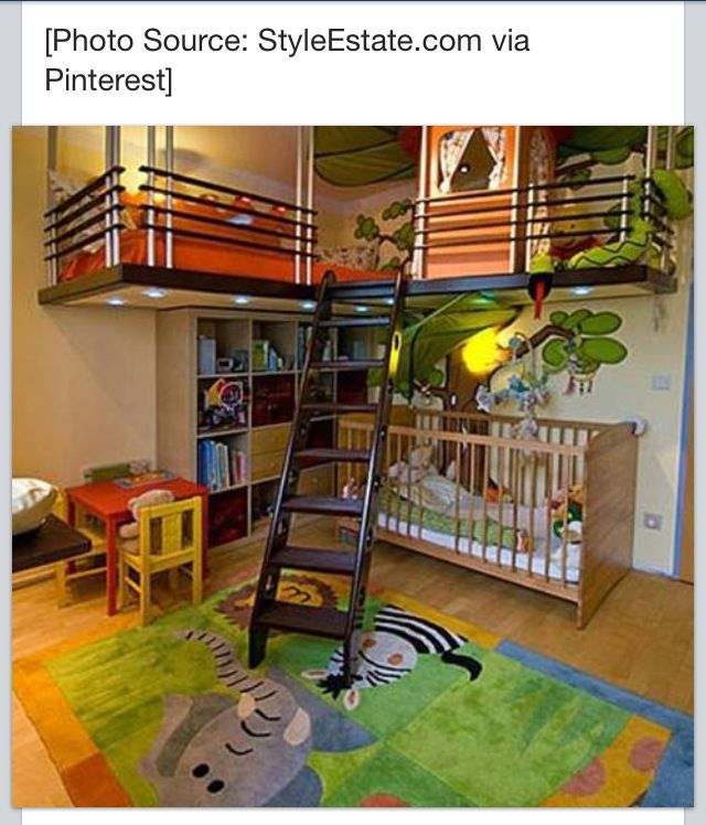 Love This Bunk Bed Play Area Above Evans Room Pinterest