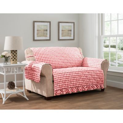 Gingham XL Sofa Protector In Red | Products in 2019 | Sofa ...