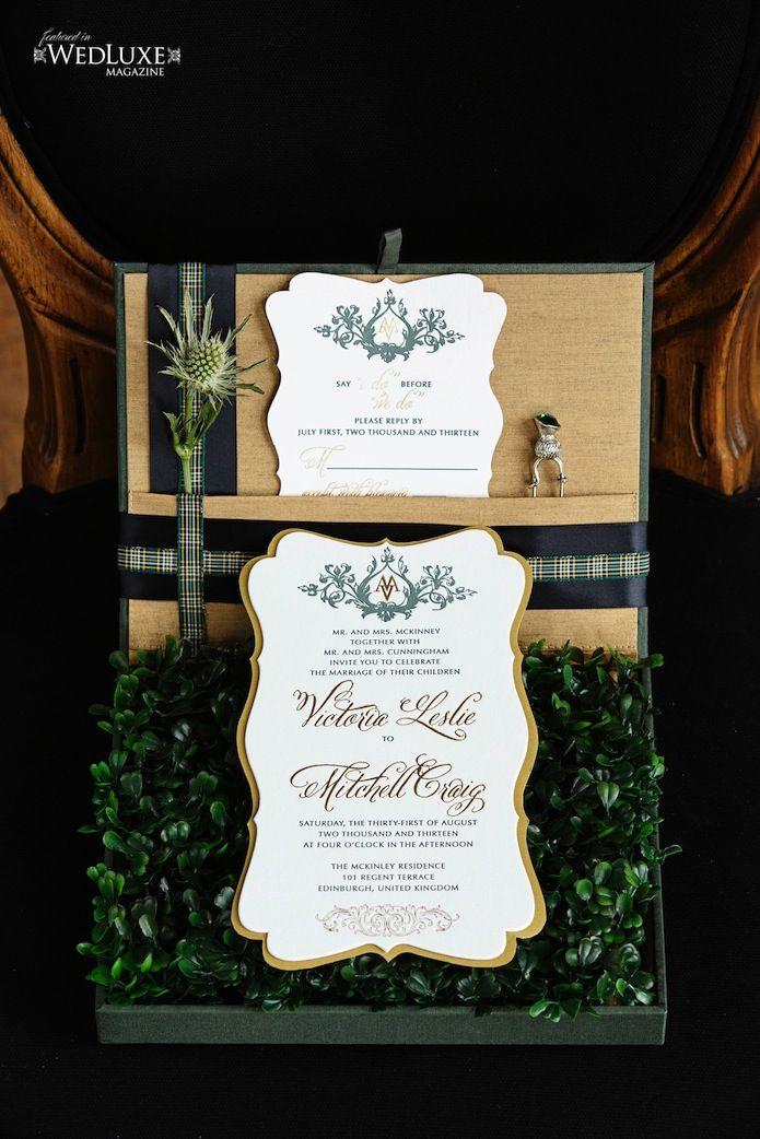 Scottish Inspired Wedding Invitations   Paper Fetish   Pinterest ...