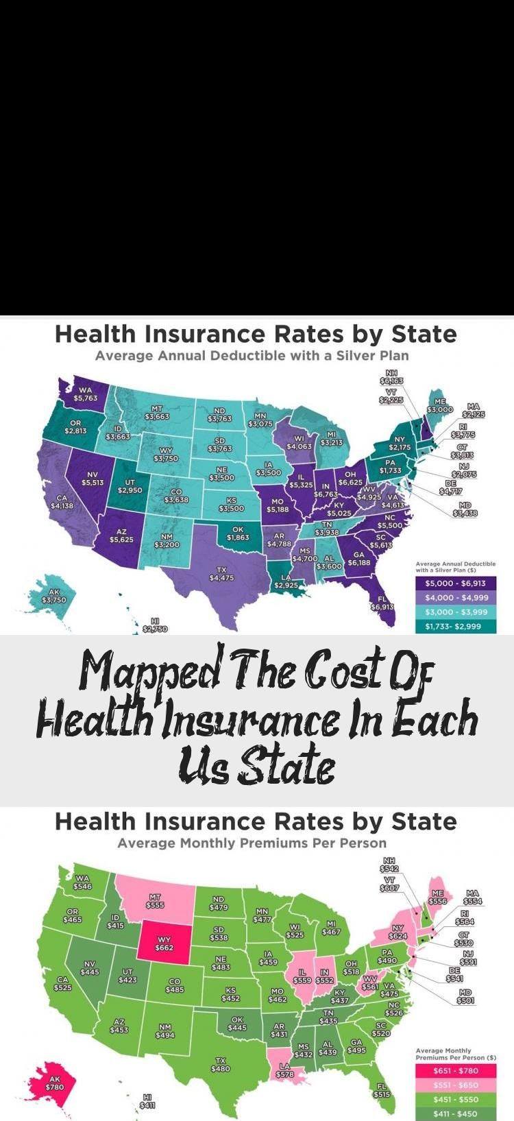 Mapped The Cost Of Health Insurance In Each Us State