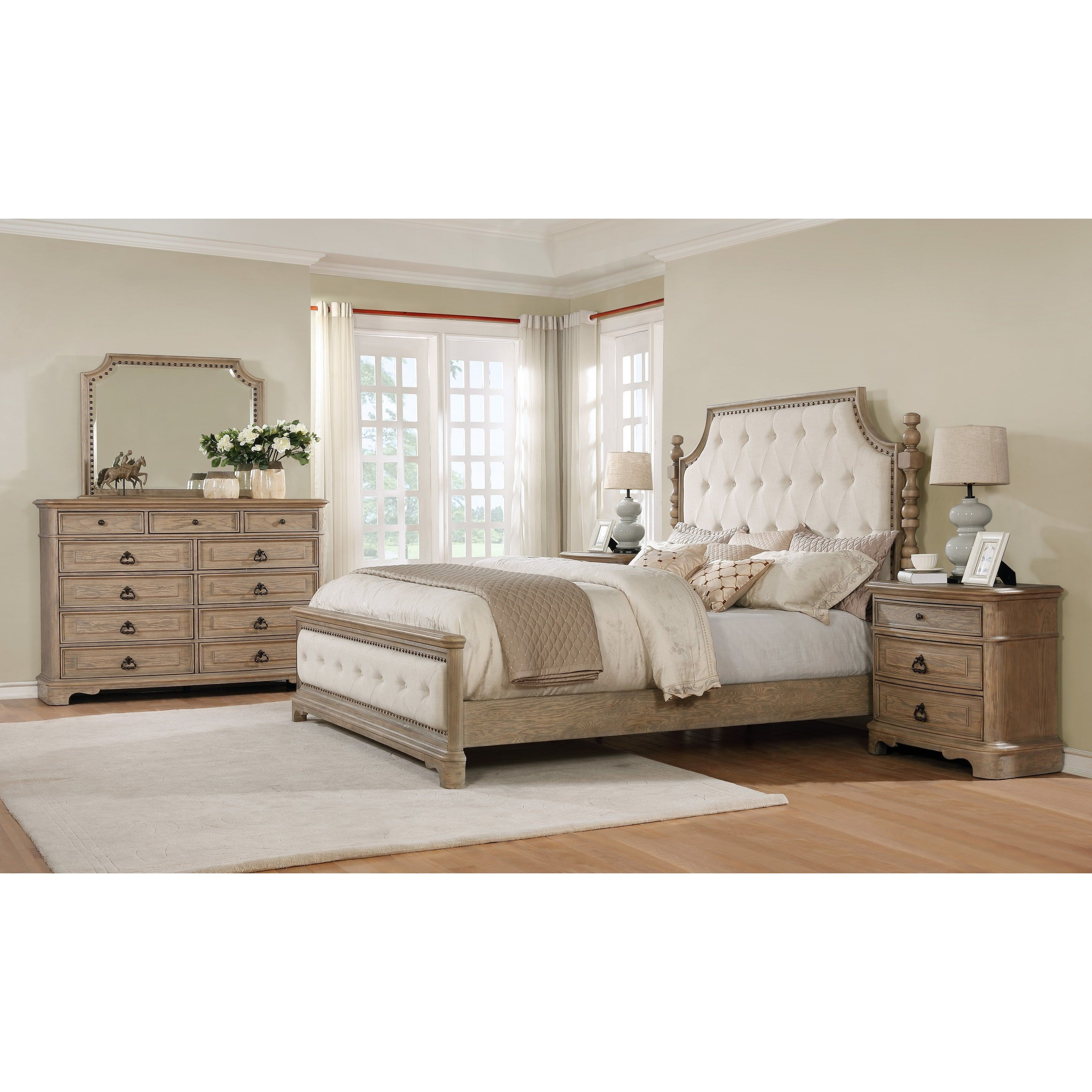 natural white luxury piece size drawers platform oak furniture king cheap modern brown lamps sets bed a polished table bedroom wood