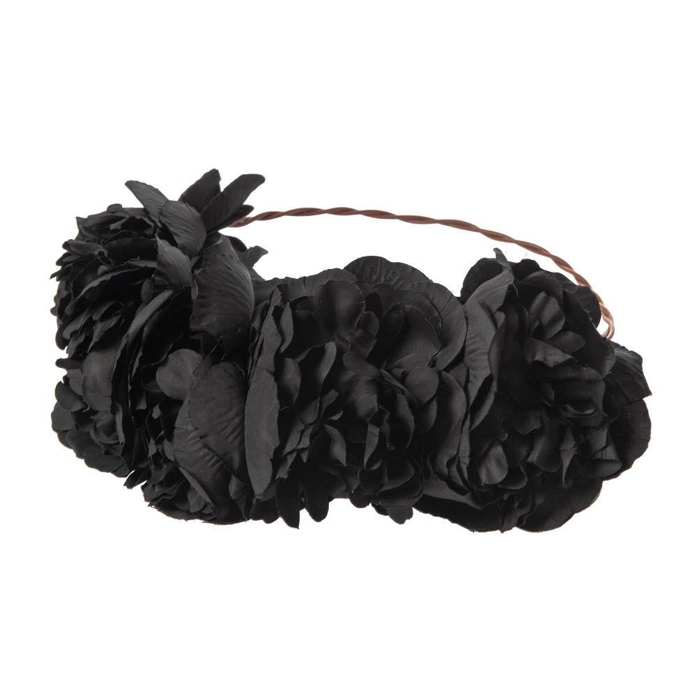 Large black roses flower crown homecoming look pinterest black large black roses flower crown izmirmasajfo