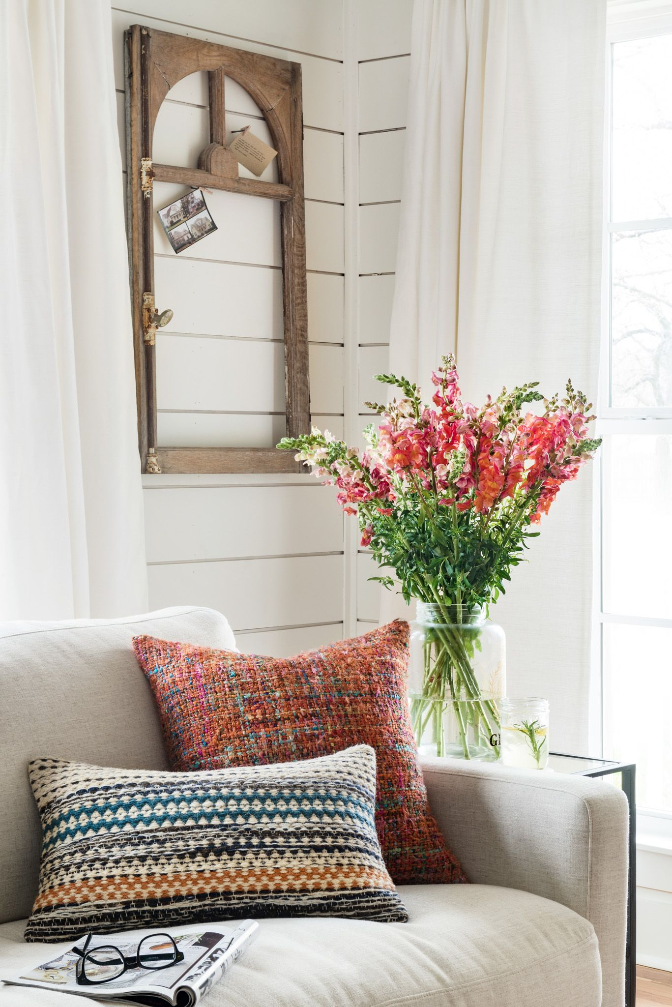 It s amazing what a couple of pillows can do for a space Throw them