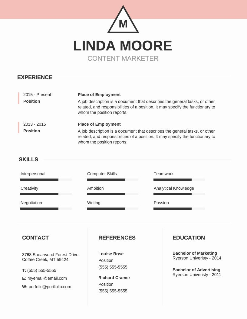 25 infographic resume template free in 2020 infographic