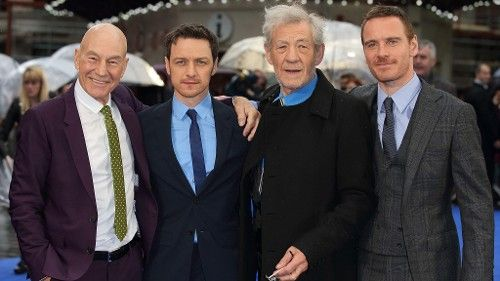 From yahoo  How Much Do 'X-Men' McAvoy and Fassbender Look Like a Young Stewart and McKellen?  LOVE LOVE LOVE LOVE this photo.