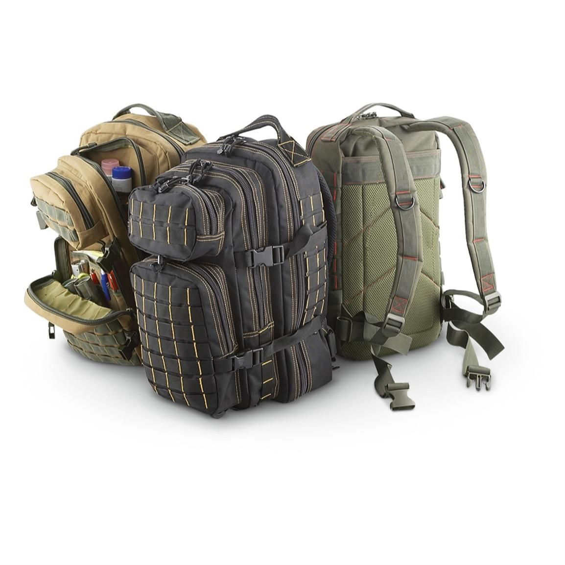 surplus military gear tactical pack assault rock sportsman enhanced guide packs survival kit bag sportsmansguide apocalypse camping equipment outdoor bags