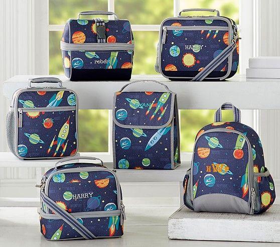 Mackenzie Navy Solar System Lunch Box Lunch Bag Bags