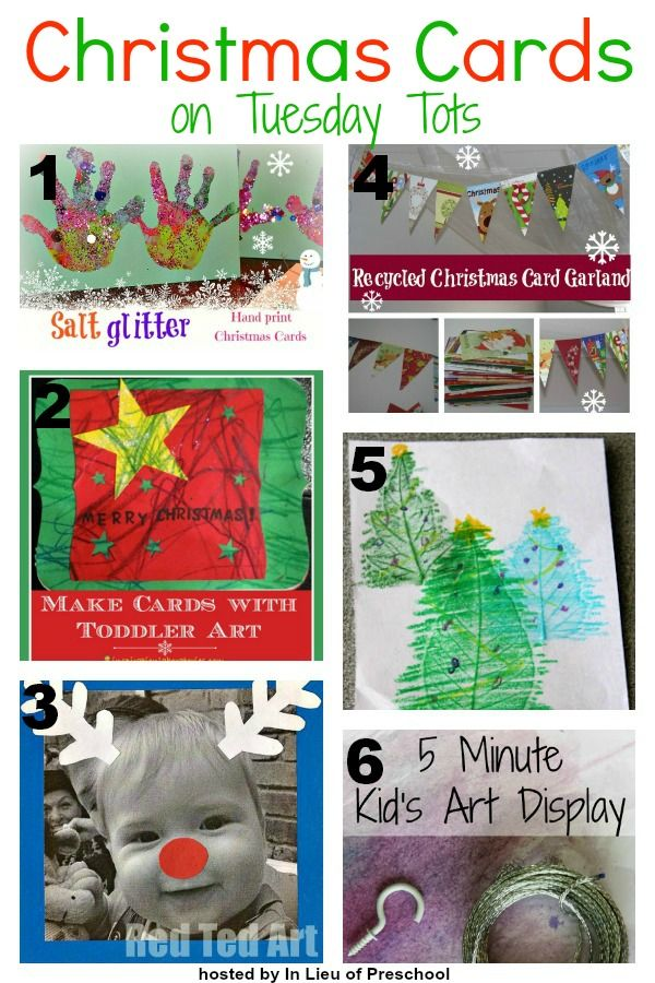 A Round Up Of Christmas Cards Displays I Inlieuofpreschool