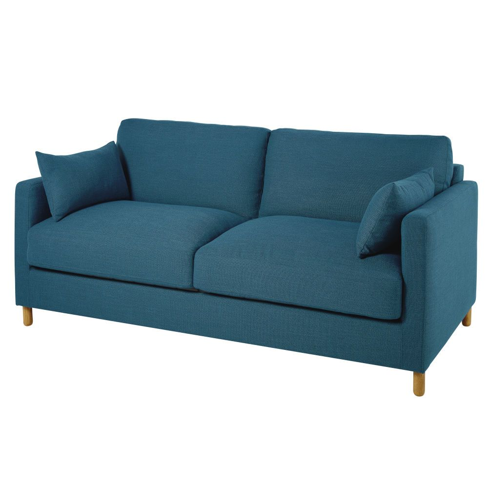3 Sitzer Schlafsofa Petrolblau Matratze 14 Cm Sofa Couch