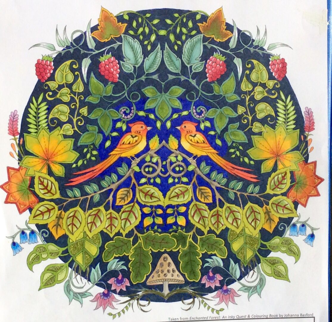 Zendoodle coloring enchanting gardens - From Enchanted Forest