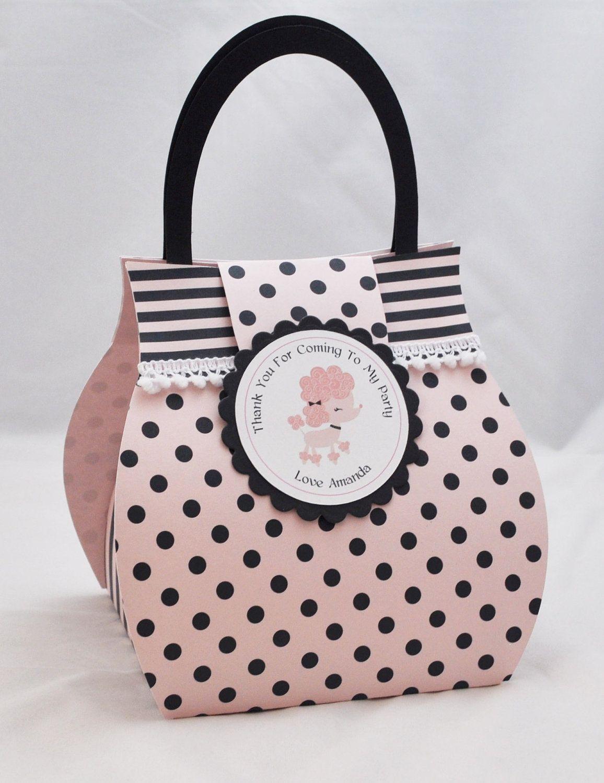 Poodle Cupcake Box Purse - Favor Bag | Cupcake boxes, Favor bags and Box