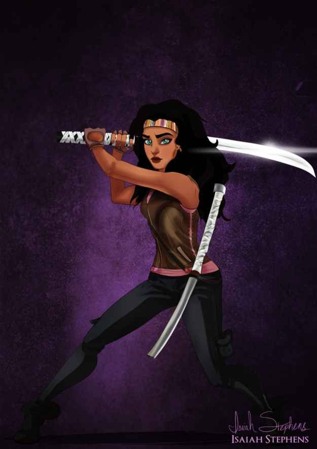 The Hunchback of Notre Dame 's Esmeralda as Michonne from The Walking Dead   10 Disney Heroines Re-Imagined As Badass Pop Culture Icons