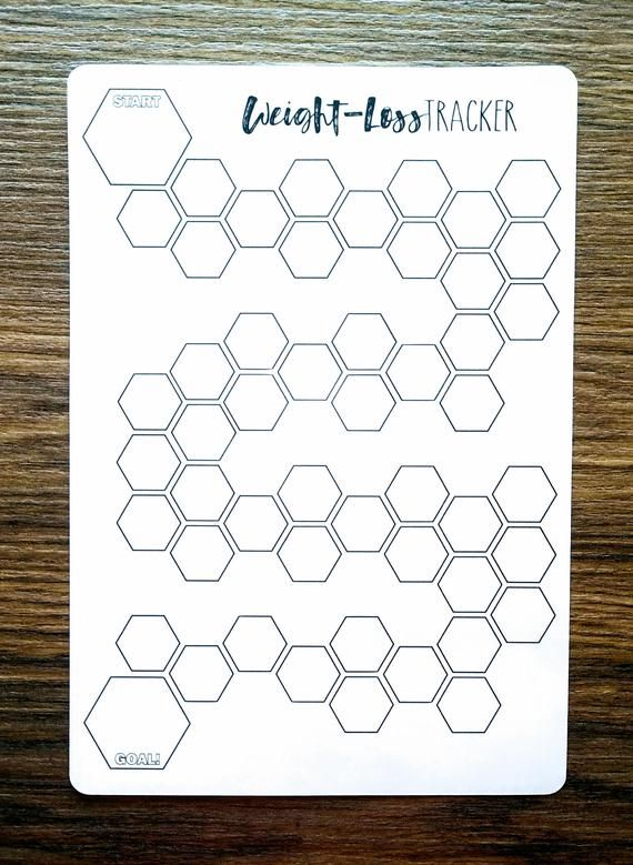 Digital Download  HEXAGON WEIGHT-LOSS Tracker  A5  Bullet | Etsy
