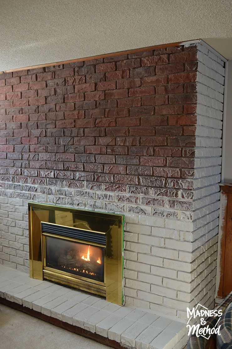 Brick fireplace and Fireplace mantles