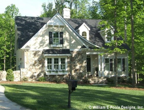 William E Poole Designs Blackberry Lane Cottage House Plans French Country House Traditional House Plans