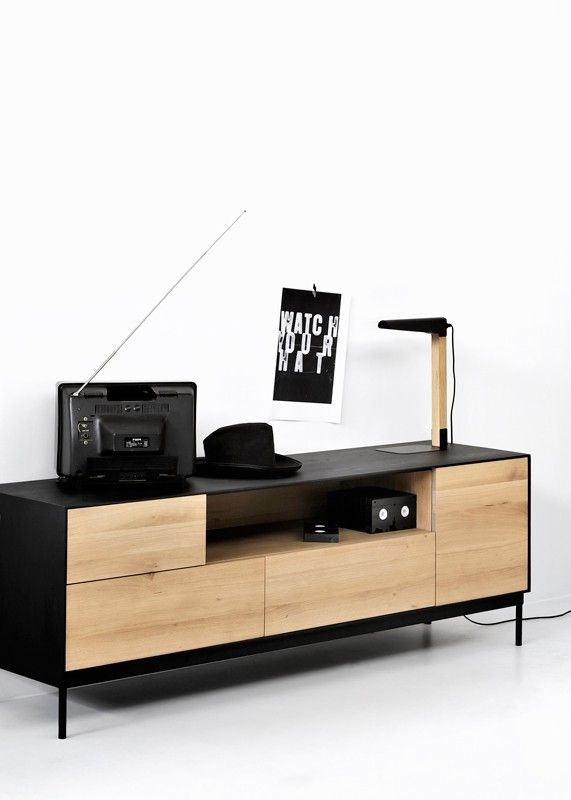 Mueble TV Blackbird Roble | Mueble tv, Roble y Tv