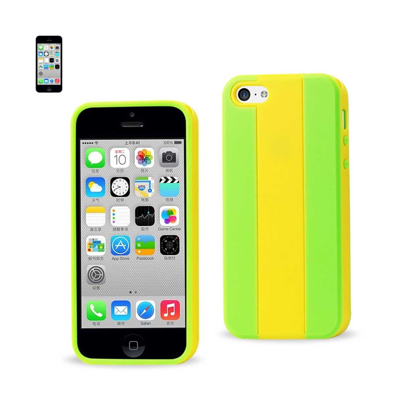 Reiko iPhone 5C Striped Case In Yellow Grey   Iphone cases ...
