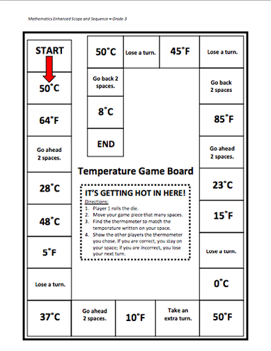 Here S A Lesson Plan On Tracking Temperature Over Time Also Includes A Board Game Where Students Practice Reading Math Lessons Weather For Kids Math Stations